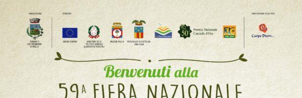 Fervono i preparativi della 59ª Fiera Nazionale del Carciofo Mediterraneo e del Prodotto Ortofrutticolo di San Ferdinando di Puglia