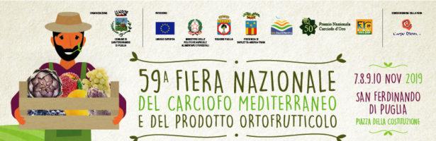 Aperte le adesioni alla 59ª Fiera Nazionale del Carciofo Mediterraneo e del Prodotto Ortofrutticolo di San Ferdinando di Puglia